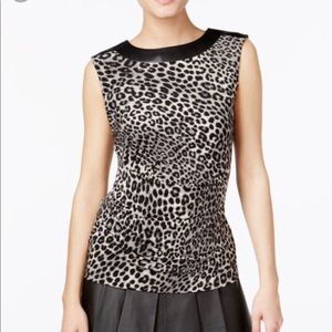Michael Kors Leopard Top
